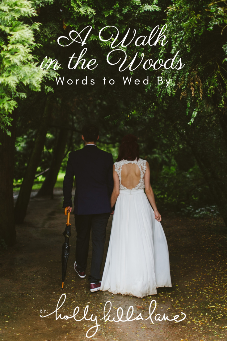 Jen Bell's Holly Hills Lane and Walt Whitman Words to Wed By Outside