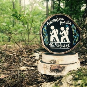 Jen Bell's Holly Hills Lane Happy Hiking Family Wedding Cake Topper