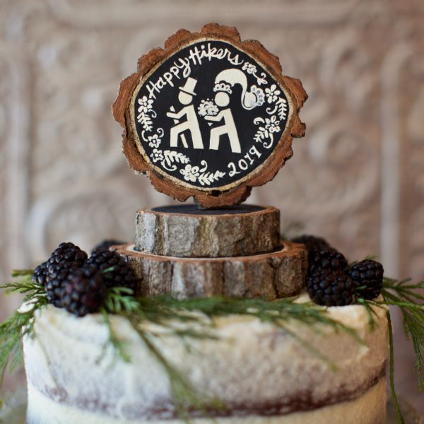 Jen Bell's Holly Hills Lane line of Wedding Cake Toppers Happy Hikers